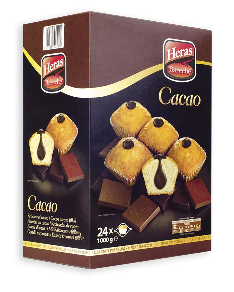 caja magdalenas rellenas cacao