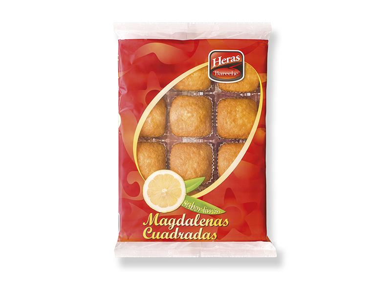 bandeja magdalenas cuadradas al limon