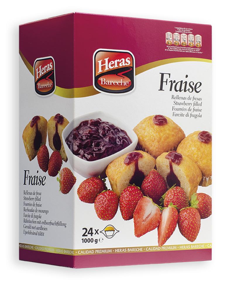 caja magdalenas rellenas de fresa
