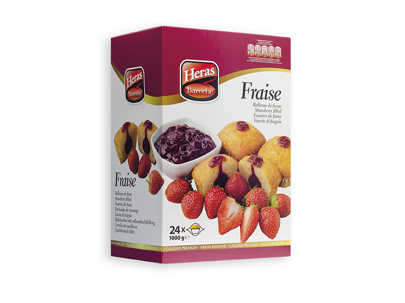 caja magdalenas rellenas fresa
